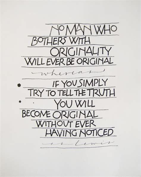 Cs Lewis Quotes Millerline Originality And C S Lewis Quote
