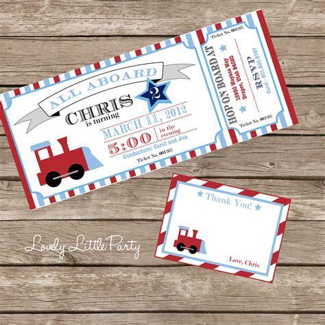 printable party invitation kits train birthday invitation kit diy printable invite and thank
