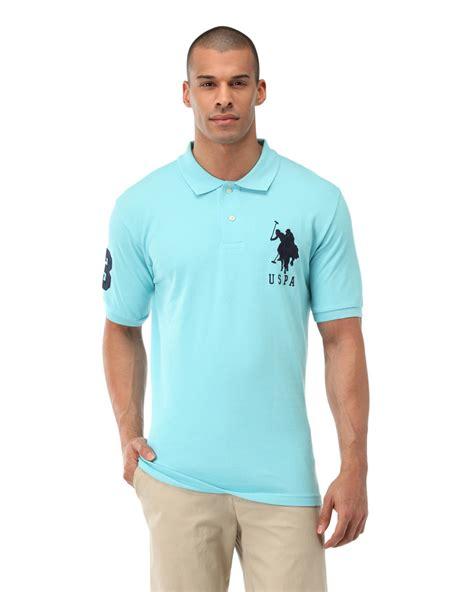 Polo Shirt Cokelat 1 lyst u s polo assn big logo polo shirt in blue for