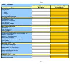 maintenance schedule template car service maintenance schedule excel spreadsheet