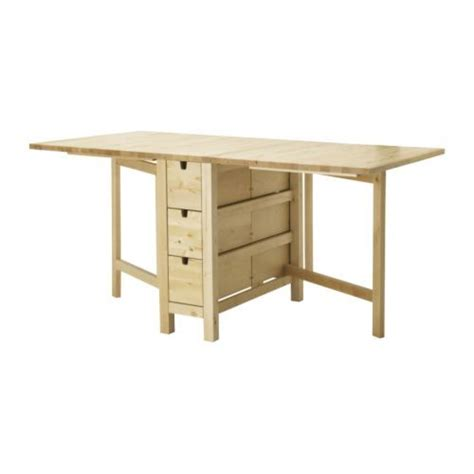 ikea norden gateleg table with 6 drawers 179 00