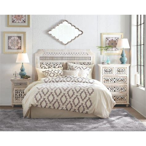 white king headboard wood home decorators collection maharaja sandblast white king