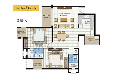 2bhk floor plans heritage floresta floor plan heritage princes real