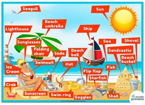 imagenes vacaciones en ingles la playa en ingl 233 s para ni 241 os de primaria