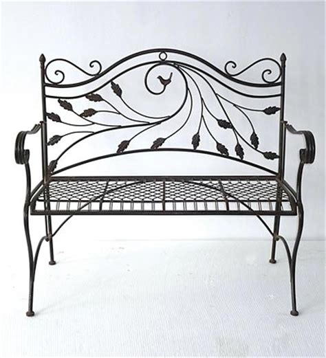 folding metal garden bench folding metal garden bench with bird motif