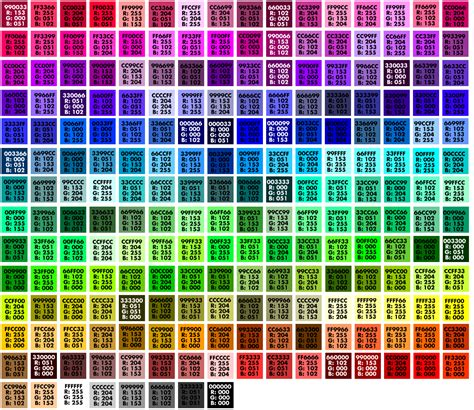 best color hex codes non dithering colors by hue