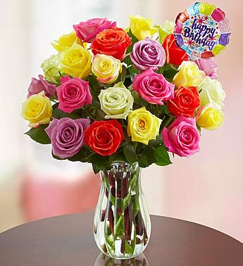 Orchids In A Vase Happy Birthday Roses 12 24 Stems Distinctive Designs
