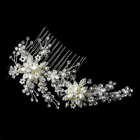 pearl and crystal hair comb stress away bridal jewelry boutique rhinestone hair comb