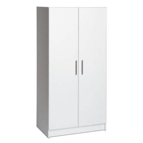 Prepac Elite 32 In Wood Laminate Cabinet In White Wes Home Depot Storage Cabinets With Doors