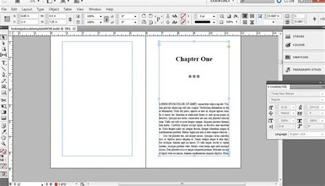 How To Format A Book In Indesign Free Templates Indesign Book Cover Template