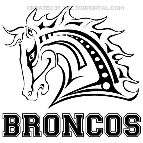 free coloring pages of how to draw broncos