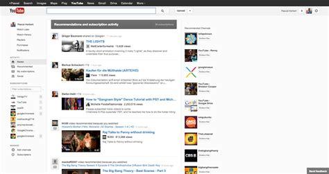 google layout youtube google testet neues youtube design gwb