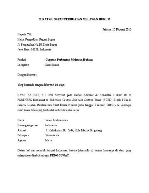 Contoh Surat Somasi Penipuan Uang