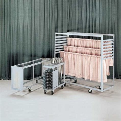 pipe and drape cart 3 ft upright storage cart for pipe and drape display c102