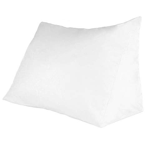 reading wedge bed pillow remedy down alternative reading wedge pillow bed bath