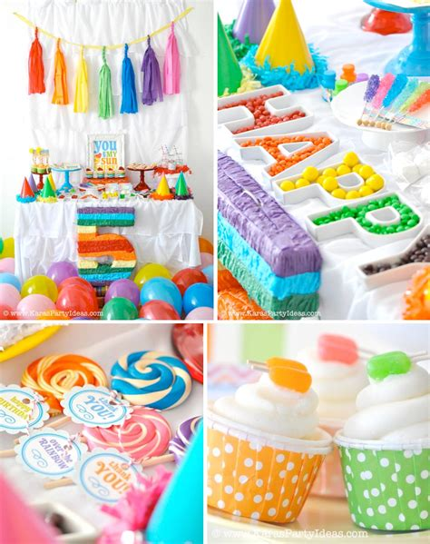 themed birthday parties kara s party ideas rainbow themed birthday party kara s