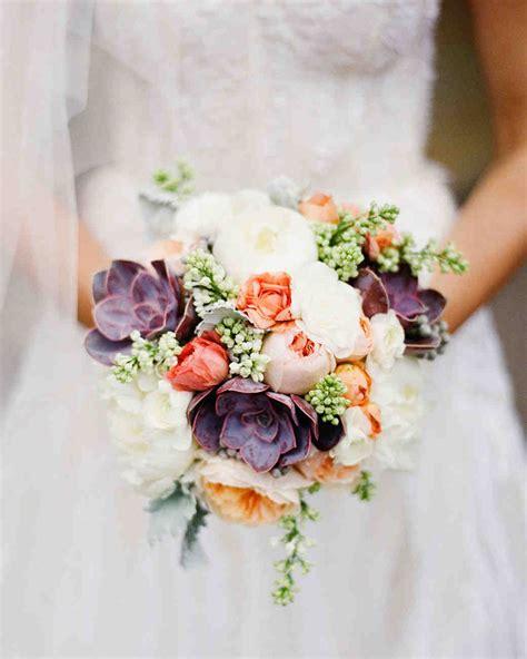 Wedding Bouquet With Succulents by 24 Succulent Wedding Bouquets Martha Stewart Weddings