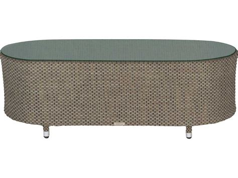 oval outdoor coffee table source outdoor furniture circa wrap aluminum 50 x 24 oval