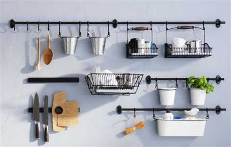 ikea hanging kitchen storage fintorp kitchen accessories can organize in style and free