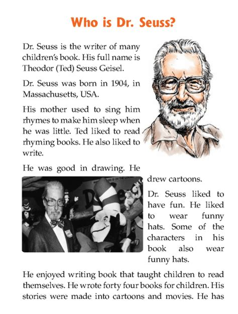 biography definition in literature literature grade 1 biography who is dr seuss 2 ela