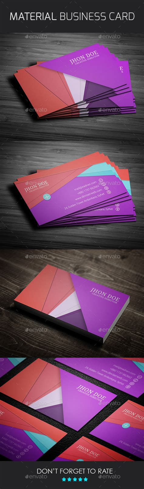 material design business card template free material design business card template by rtralrayhan