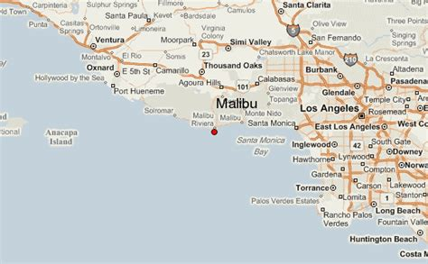 california map malibu malibu map gallery