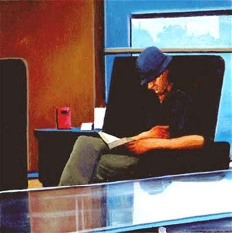 paint reader another world man reading a book original painting by