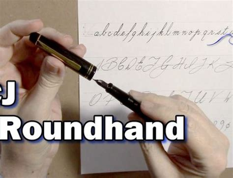 Roundhand Shecker using the linex liner guide cjs creative studio