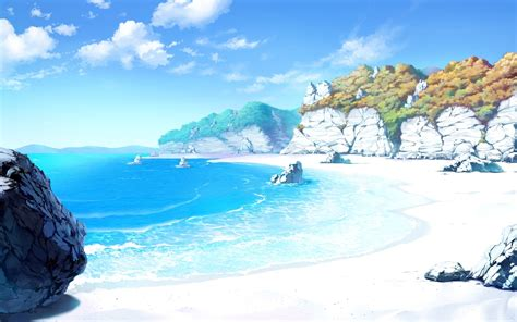 drawing landscape sea beach sand sky rock wallpapers