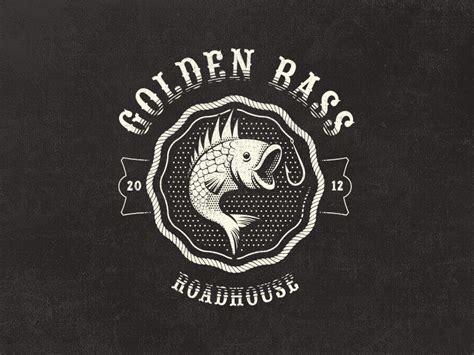 vintage logo design photoshop golden bass roadhouse fantasy vintage logo by mathias
