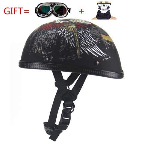 Kacamata Helm Visor Goggle free shipping vintage motorcycle motorbike vespa open half motor scooter helmets with