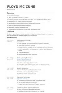 exles of a cv cover letter network cable installer cover letter