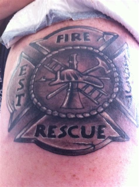maltese cross tattoos firefighter on my arm of the firefighter maltese cross the