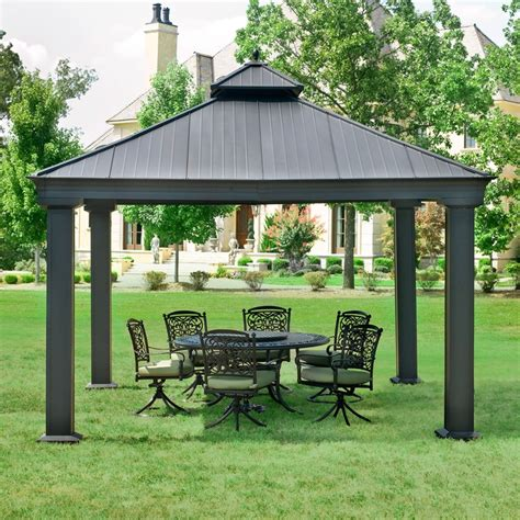 Hardtop Patio Gazebo Royal Hardtop Gazebo 12 X 12 Sam S Club Patio Sets And Patio