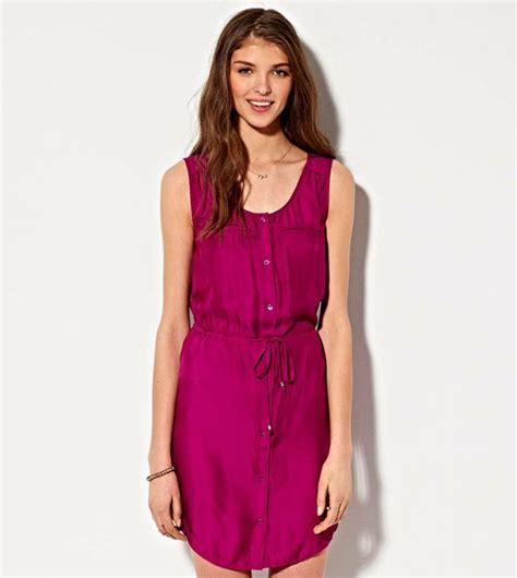 Dress Fashion Dr8962 Bta 2 purple coast ae silky utility shirt dress fashion american eagle outfitters