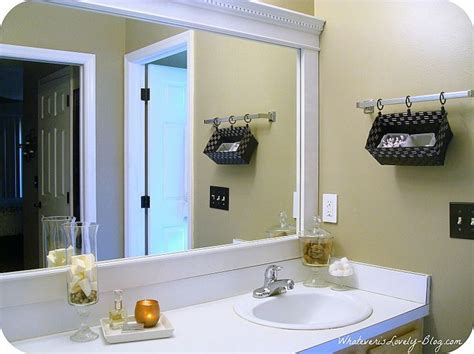 how to frame bathroom mirror with molding bathroom mirror framed with crown molding