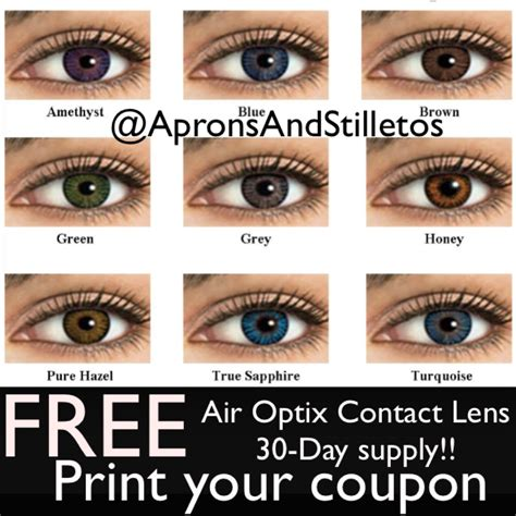 free trial color contacts receive your free trial of air optix colors contact lenses