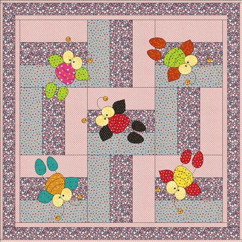 Applique Quilt Patterns Pdf Baby Quilt Pattern Doodlebug Applique