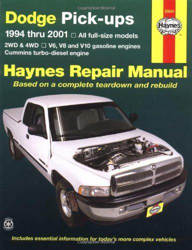 free online car repair manuals download 1994 dodge ram wagon b350 on board diagnostic system download canadian books free dodge full size pickups 1994 2001 haynes repair manuals
