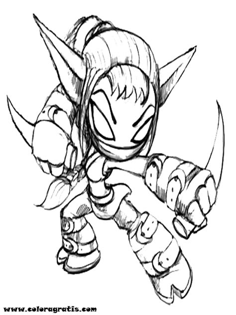 coloring pages of stealth elf stealth elf skylanders free colouring pages