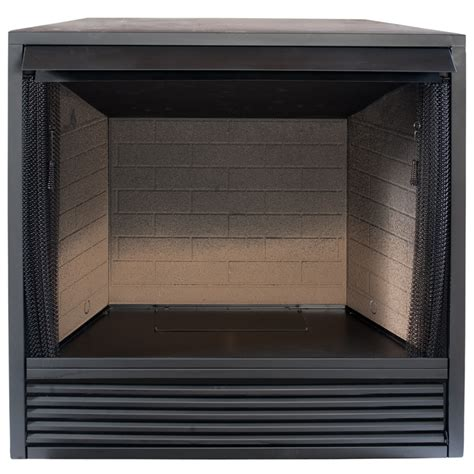 lowes gas fireplace insert shop procom 35 in w black vent free gas fireplace firebox