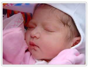 newly born baby with pink dress hospital baby pictures