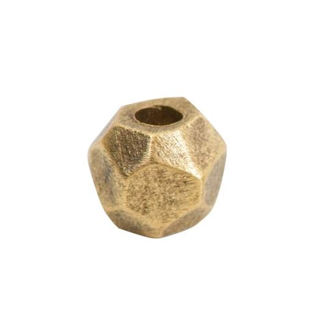 metal bead faceted 6mm antique gold nunn design