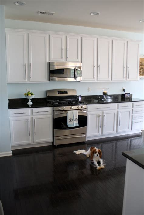 dark floors white cabinets charming little nest sunny slide up