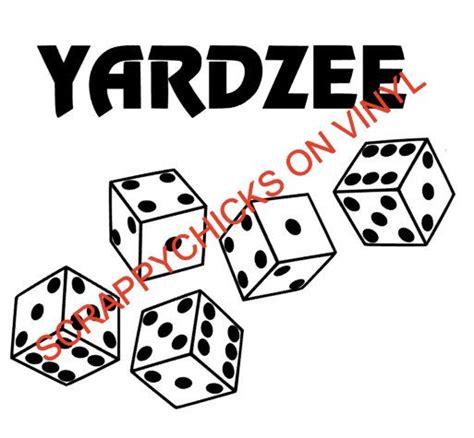 printable dice stickers yardzee decal lawn yardzee decal large yahtzee decal