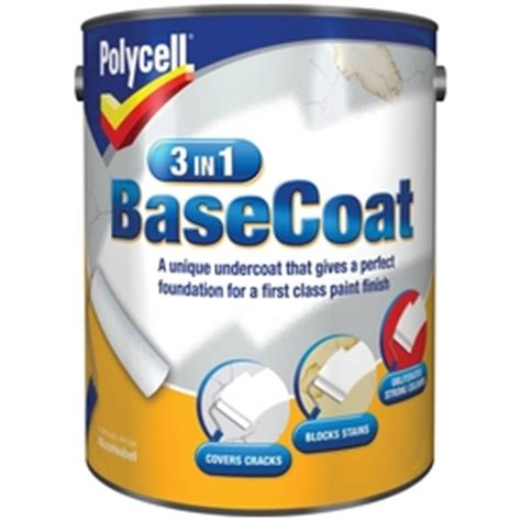 Paint For Ceiling Cracks by Polycell 3 In 1 Basecoat