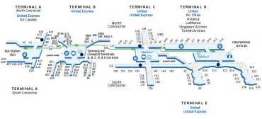houston airport map houston intercontinental iah airport map united airlines