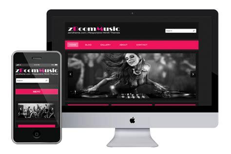 themes html5 responsive free zboommusic free responsive html5 theme zerotheme
