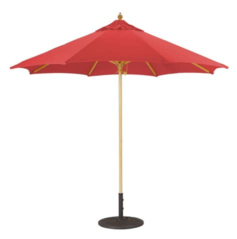9 wood patio umbrella with single pole