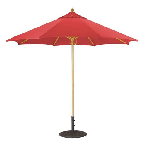 9' Wood Patio Umbrella with Single Pole